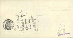 3419,15 Francs FRANCE régionalisme et divers Mazamet 1931 DOC.Chèque SUP