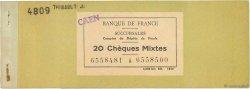 Francs FRANCE régionalisme et divers CAEN 1955 DOC.Chèque TB
