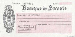 Francs FRANCE régionalisme et divers CHAMBÉRY 1943 DOC.Chèque SPL