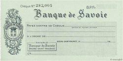 Francs FRANCE régionalisme et divers Bourg-Saint-Maurice 1943 DOC.Chèque SPL