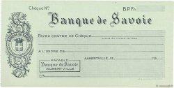 Francs FRANCE régionalisme et divers ALBERTVILLE 1943 DOC.Chèque SPL