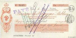 527 Francs FRANCE régionalisme et divers PARIS 1926 DOC.Chèque TTB