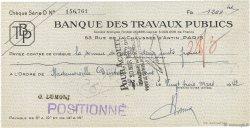 1200 Francs FRANCE régionalisme et divers Paris 1942 DOC.Chèque SUP