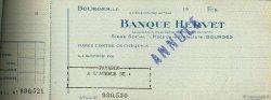 Francs FRANCE régionalisme et divers Bourges 1943 DOC.Chèque SUP
