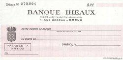 Francs FRANCE régionalisme et divers DREUX 1943 DOC.Chèque SPL