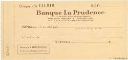 Francs FRANCE régionalisme et divers GRENOBLE 1943 DOC.Chèque SUP