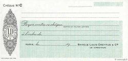 Francs FRANCE régionalisme et divers (PARIS) 1943 DOC.Chèque SPL