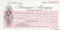 Francs FRANCE régionalisme et divers Fontainebleau 1943 DOC.Chèque SPL