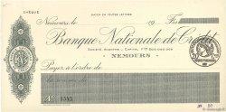 Francs FRANCE régionalisme et divers Nemours 1915 DOC.Chèque SPL