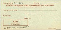 Francs FRANCE régionalisme et divers ELBEUF 1943 DOC.Chèque SUP