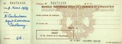 Francs FRANCE régionalisme et divers Niort 1950 DOC.Chèque TTB