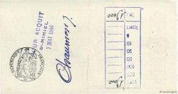Francs FRANCE régionalisme et divers Saint-Mihiel 1946 DOC.Chèque TTB