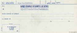 Francs FRANCE régionalisme et divers Vincennes 1943 DOC.Chèque SPL