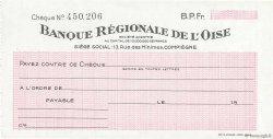 Francs FRANCE régionalisme et divers COMPIÈGNE 1943 DOC.Chèque SPL