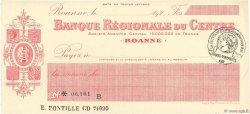 Francs FRANCE régionalisme et divers ROANNE 1920 DOC.Chèque SPL