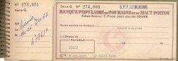 Francs FRANCE régionalisme et divers TOURS 1964 DOC.Chèque TTB
