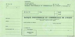 Francs FRANCE régionalisme et divers ARGENTAN 1960 DOC.Chèque SPL