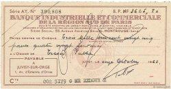 3625,80 Francs FRANCE régionalisme et divers JUVISY-SUR-ORGE 1963 DOC.Chèque TTB