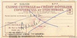 5514 Francs FRANCE régionalisme et divers PARIS 1943 DOC.Chèque SUP