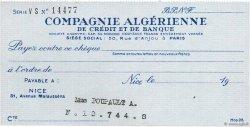 Francs FRANCE régionalisme et divers PARIS 1960 DOC.Chèque SUP