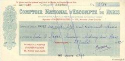 6750 Francs FRANCE régionalisme et divers Aubervilliers 1942 DOC.Chèque TTB