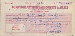 20000 Francs FRANCE régionalisme et divers LISIEUX 1949 DOC.Chèque TTB