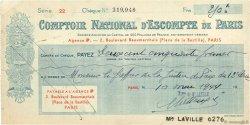 250 Francs FRANCE régionalisme et divers PARIS 1944 DOC.Chèque TTB