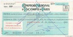 65805 Francs FRANCE régionalisme et divers Enghien-Les-Bains 1959 DOC.Chèque TTB