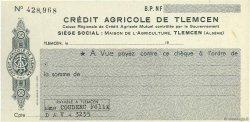 Francs FRANCE régionalisme et divers TLEMCEM (ALGÉRIE) 1960 DOC.Chèque SUP