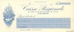 Francs FRANCE régionalisme et divers LAON 1920 DOC.Chèque SPL