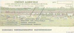 Francs FRANCE régionalisme et divers Guéret 1979 DOC.Chèque NEUF