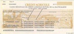 Francs FRANCE régionalisme et divers LANGRES 1985 DOC.Chèque SPL