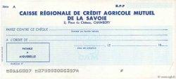 Francs FRANCE régionalisme et divers CHAMBÉRY 1960 DOC.Chèque SUP