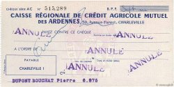 Francs FRANCE régionalisme et divers CHARLEVILLE 1943 DOC.Chèque SPL