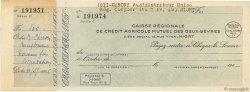 Francs FRANCE régionalisme et divers Niort 1943 DOC.Chèque SUP