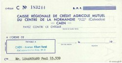 Francs FRANCE régionalisme et divers CAEN 1943 DOC.Chèque SPL