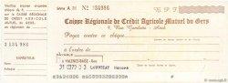 Francs FRANCE régionalisme et divers AUCH 1959 DOC.Chèque SPL