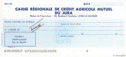 Francs FRANCE régionalisme et divers LONS-LE-SAUNIER 1959 DOC.Chèque SPL