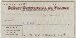 Francs FRANCE régionalisme et divers Le Havre 1943 DOC.Chèque SPL