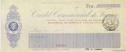 Francs FRANCE régionalisme et divers MARSEILLE 1915 DOC.Chèque SUP