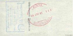 10 Francs FRANCE régionalisme et divers PARIS 1963 DOC.Chèque SUP