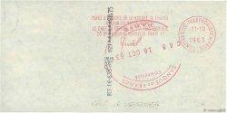 88,75 Francs FRANCE régionalisme et divers Paris 1963 DOC.Chèque SPL