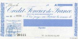 1000 Francs FRANCE régionalisme et divers PARIS 1912 DOC.Chèque SPL