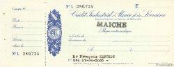 Francs FRANCE régionalisme et divers MAICHE 1943 DOC.Chèque SPL