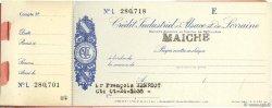 Francs FRANCE régionalisme et divers MAICHE 1943 DOC.Chèque TTB