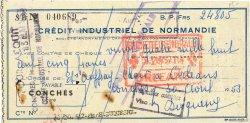 24805 Francs FRANCE régionalisme et divers CONCHES 1953 DOC.Chèque TTB
