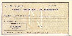 Francs FRANCE régionalisme et divers Livarot 1958 DOC.Chèque NEUF