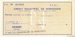 Francs FRANCE régionalisme et divers Livarot 1950 DOC.Chèque SPL