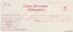 Francs FRANCE régionalisme et divers PARIS 1953 DOC.Chèque NEUF