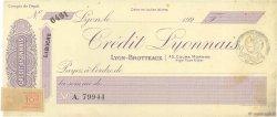 Francs FRANCE régionalisme et divers LYON 1924 DOC.Chèque SUP
